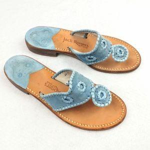 Jack Rogers USA Suede Sandals Size 6 Medium